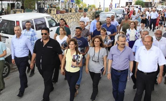 UBP Lefkoşa belediye başkan adayı Sertoğlu Haspolat'ı ziyaret etti