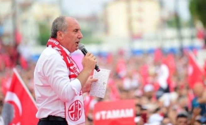 İnce: Erdoğan'ın kazandığını kabul ediyorum