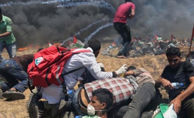 İsrail Gazze sınırında 183 Filistinliyi şehit etti