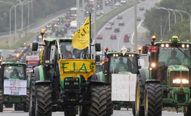 Brüksel'de 'Tarım' protestosu