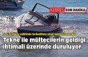 Yeni Erenköy sahilinde terkedilmiş sürat teknesi...