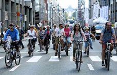"""Brüksel'de """"Otomobilsiz Gün"""" etkinliği"""