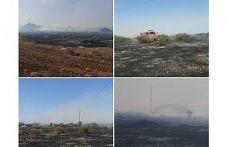 Üç ayrı noktada yangın meydana geldi