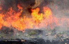 İskele-Ardahan arasındaki çöplük alanda yangın!