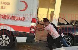 Ambulans, vatandaşlar tarafından itilerek çalıştırıldı