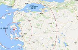Ege Denizi'nde 4,1 büyüklüğünde deprem meydana...