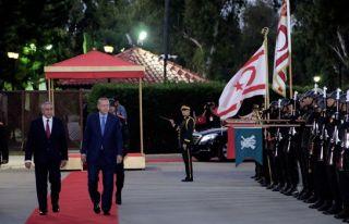 Erdoğan, Cumhurbaşkanlığı'nda resmi törenle...