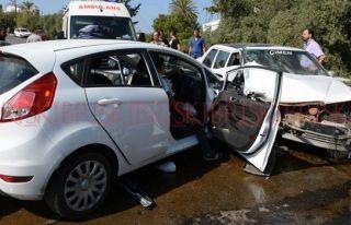 Lefke'de trafik kazasında yaralanan öğrenci Mersin'e...