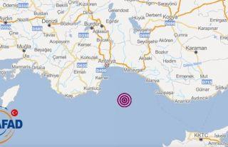 Akdeniz'de 5.2 şiddetinde deprem... Deprem Kıbrıs'ta...