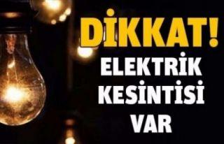Perşembe İskele'de elektrik kesintisi olacak