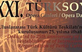 21. Türksoy Opera Günleri 20 Eylül'de