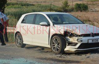 Geçitköy'de korkutan kaza
