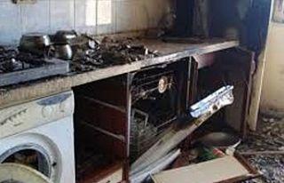 Bulaşık makinesi yangın çıkardı
