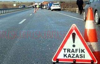 Güzelyurt'ta trafik kazası bir kişi ağır yaralandı