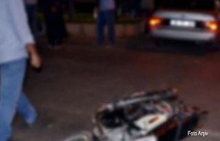 Lapta'da motor kazası, sürücü müşahade...