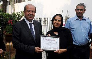 Tatar, İyilik Evi'nin sertifika törenine katıldı