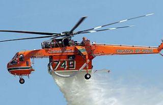 Güney'de yangınlar için üçüncü helikopter...