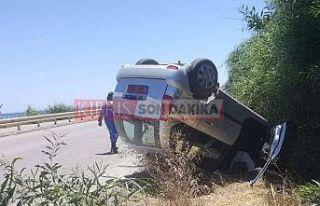 İskele Boğazı'nda kaza, 1 ağır yaralı