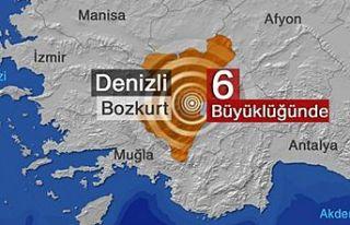 Denizli'de 6.0 büyüklüğünde deprem