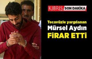 Tutuklu, Mürsel Aydın firar etti...