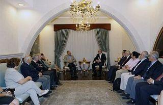 Akıncı, Türk-Yunan forumu üyelerini kabul etti