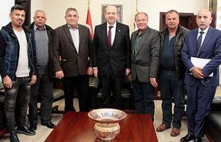 Başbakan Tatar, Taşeronlar Birliği'ni kabul etti