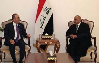 Çavuşoğlu Irak Başbakanı Abdulmehdi ile görüştü