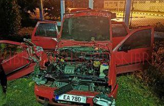 Güzelyurt'ta feci kaza! 1 yaralı