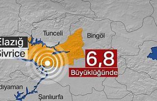 Elazığ'da deprem: 6,8 büyüklüğündeki sarsıntı...