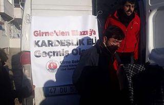 Girne Belediyesi'nin yardımları depremzedelere...