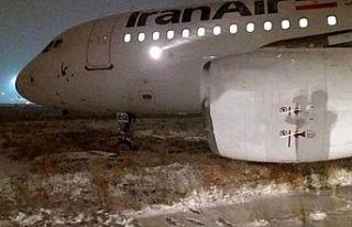 İran'da uçak pistten çıktı