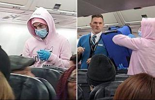 Uçakta Koronavirüs şakası acil inişe sebep oldu
