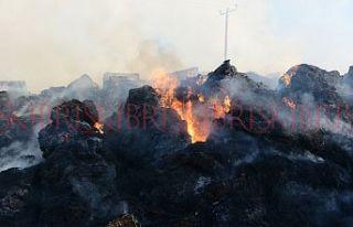 800 adet balya alev alev yandı