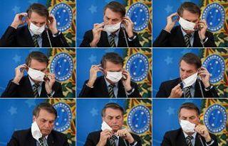 Bolsonaro corona virüsü yine 'basit bir gribe'...