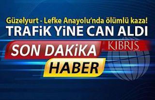 Güzelyurt-Lefke Anayolu'nda ölümlü kaza!