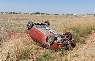 6 yaşındaki çocuk  ve sürücü yaralandı