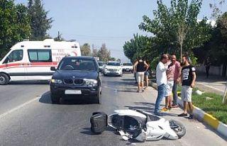 Karaoğlanoğlu'nda kaza: 1 ağır yaralı