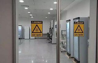 Sabiha Gökçen Havalimanı'nda Kovid-19 test...