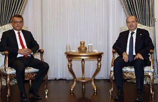 Cumhurbaşkanı Tatar, Erhürman'ı kabul etti