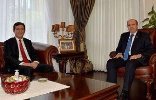 Cumhurbaşkanı Tatar, Merkez Bankası Başkanı Günay'ı...
