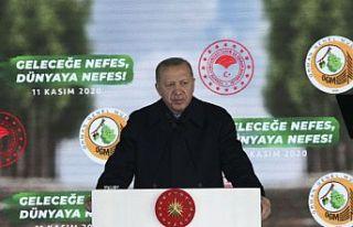 """Erdoğan, """"Geleceğe Nefes, Dünyaya Nefes Programı""""na..."""