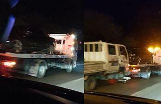 Girne-Boğaz Yolu'nda iki araç yüz yüze çarpıştı