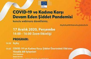 """Avrupa Komisyonu'ndan """"Covıd-19 ve Kadına karşı..."""