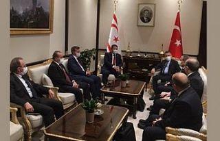 Başbakan Saner Türkiye Cumhurbaşkanlığı Külliyesi'nde...