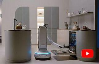 Samsung'un yeni robotu bulaşık yıkıyor, sofra...