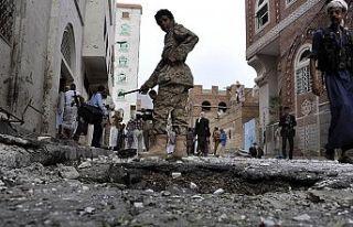 Marib'de Husilerin fırlattığı balistik füzenin...