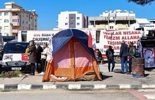 Taşımacıların Başbakanlık önündeki eylemi...