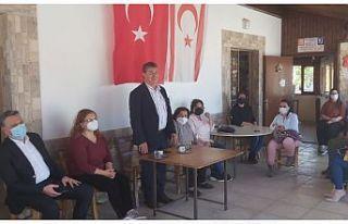 Bakan Üstel, ekibiyle birlikte Girne Bölgesi'nde...