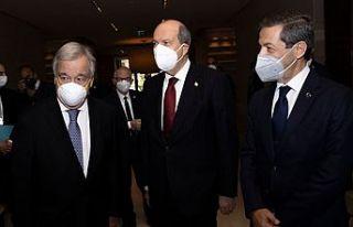 Cumhurbaşkanı Tatar - Guterres görüşmesi başladı