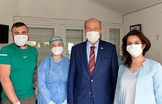 Cumhurbaşkanı Tatar Ve Müzakere Heyeti PCR testi...